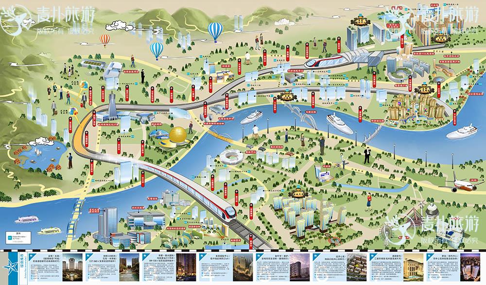 杭州地铁手绘地图_城市_麦扑旅游