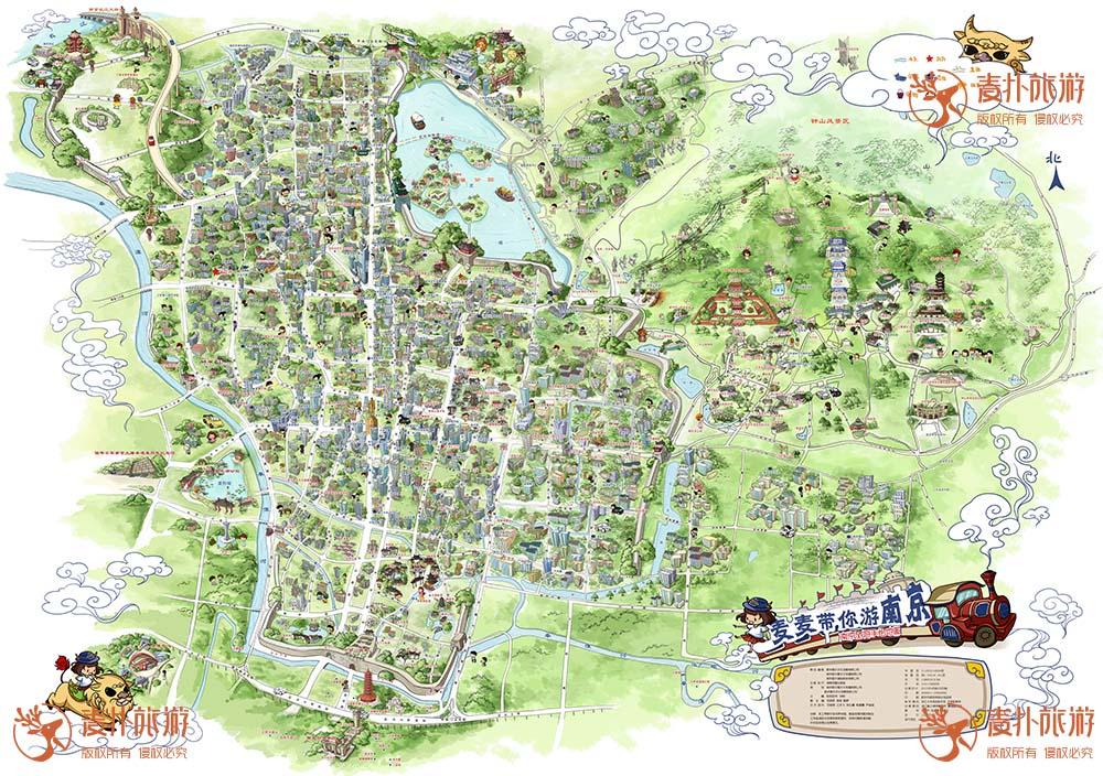 南京手绘地图_城市_麦扑旅游